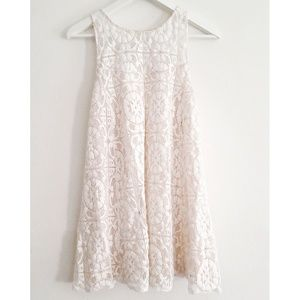 Free People Floral Lace Swing Dress